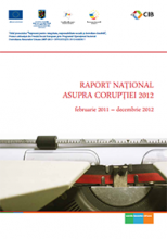 Raport Naţional asupra Corupţiei - 2012